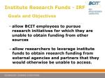 institute research funds irf