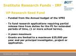 institute research funds irf7
