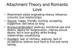 attachment theory and romantic love