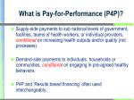what is pay for performance p4p