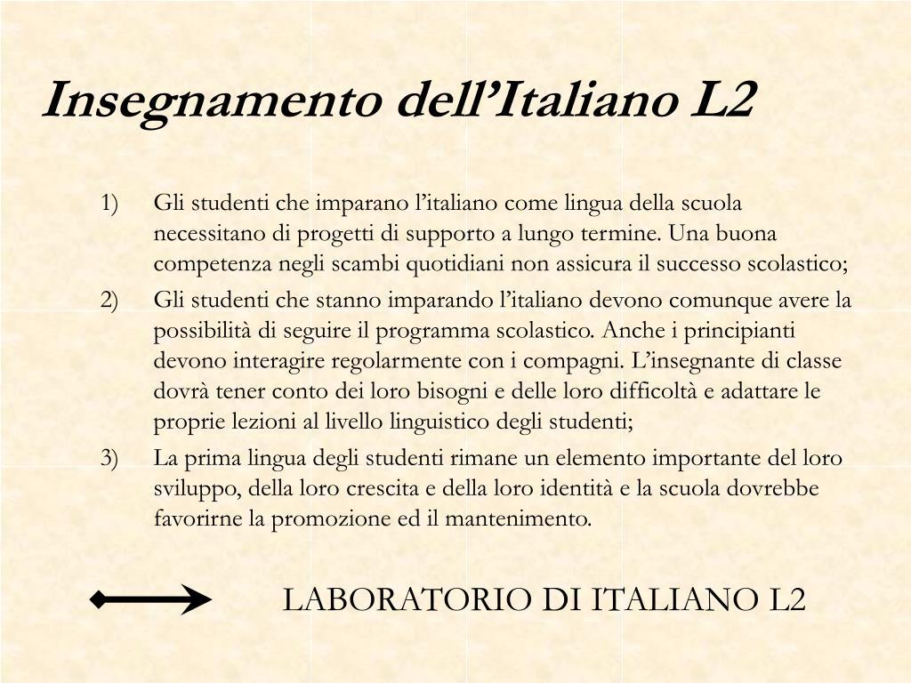Insegnamento dell'Italiano L2