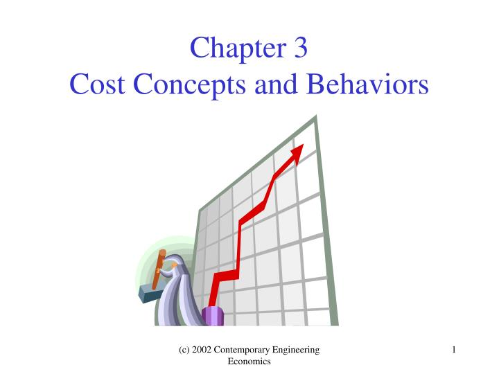 Chapter 3 cost concepts and behaviors