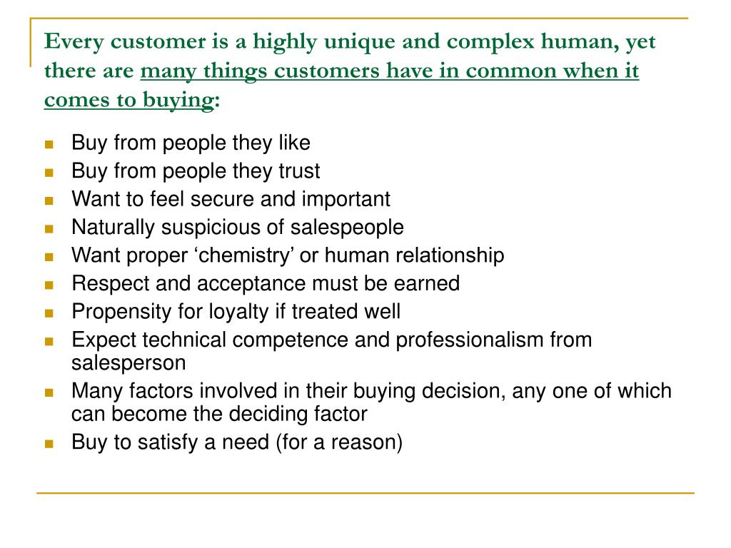 Every customer is a highly unique and complex human, yet there are