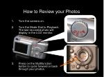 how to review your photos
