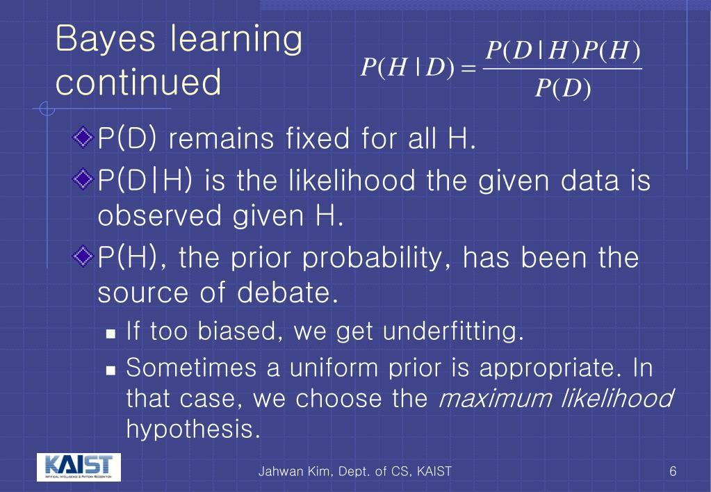Bayes learning