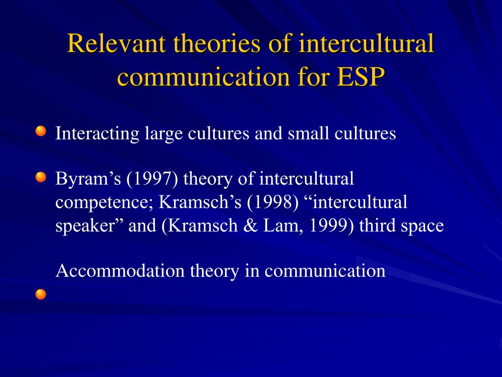 PPT - Intercultural Communication and ESP: Points of