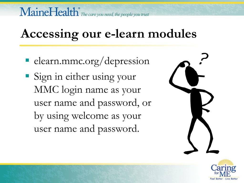 Accessing our e-learn modules