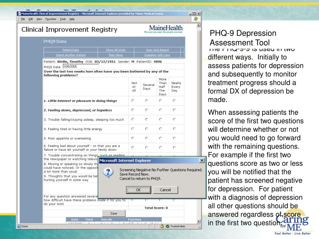 PHQ-9 Depression Assessment Tool