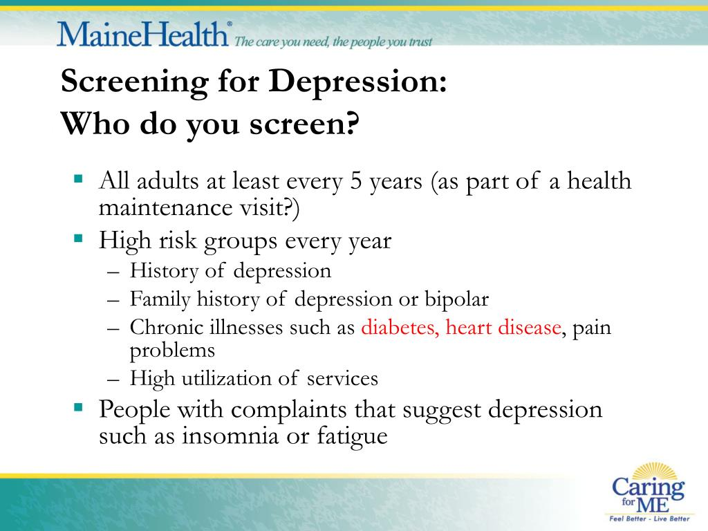 Screening for Depression: