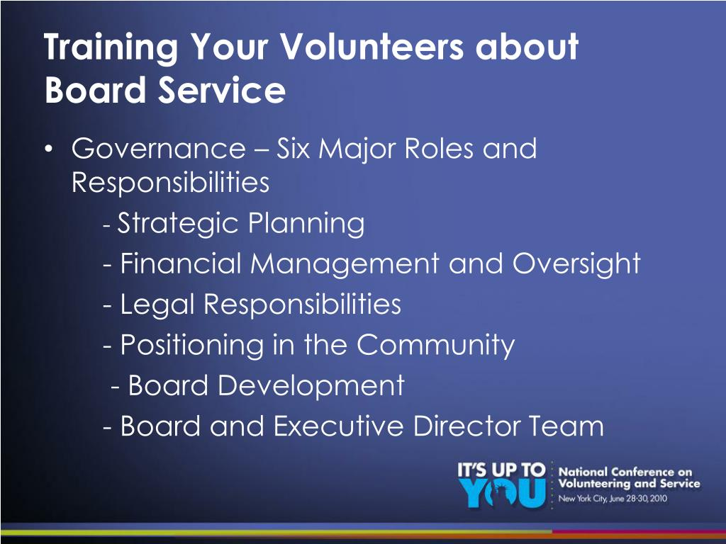 Training Your Volunteers about Board Service