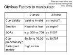 obvious factors to manipulate