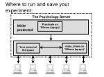 where to run and save your experiment
