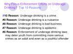 why focus enforcement efforts on underage drinking top 10 reasons