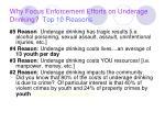 why focus enforcement efforts on underage drinking top 10 reasons12