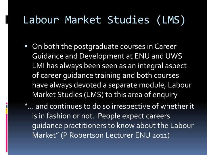 Labour Market Studies (LMS)