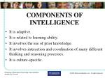 components of intelligence