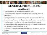 general principles intelligence
