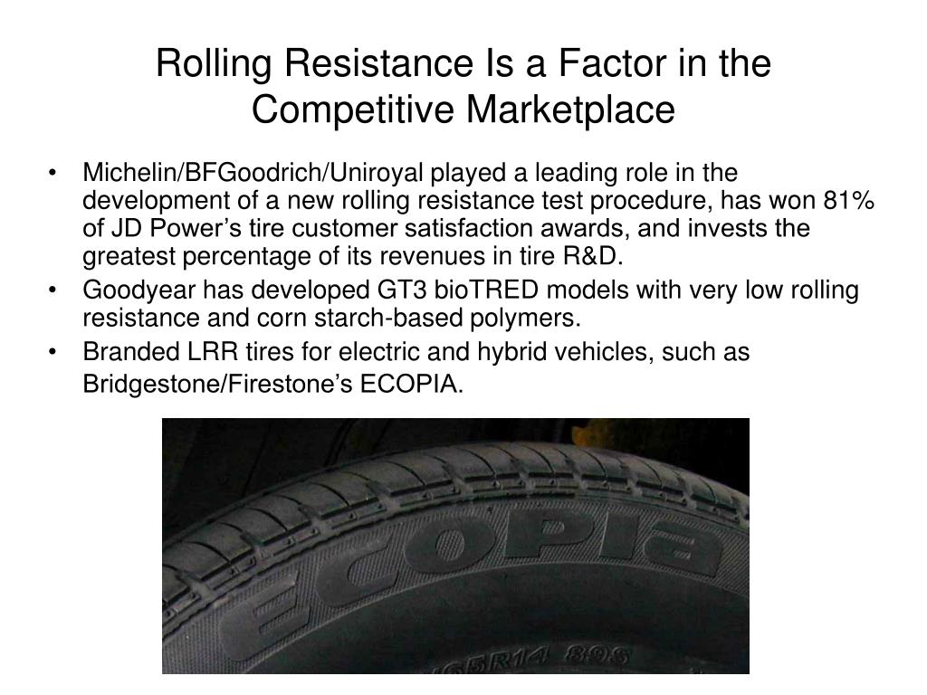 Rolling Resistance Is a Factor in the Competitive Marketplace