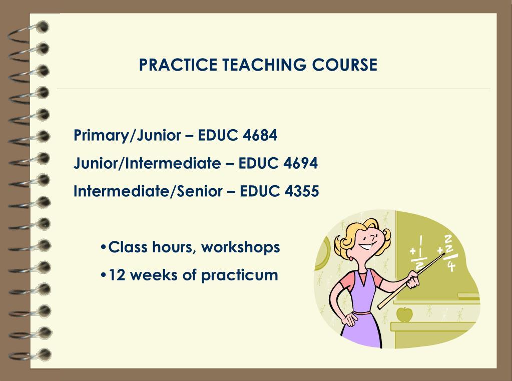 PRACTICE TEACHING COURSE