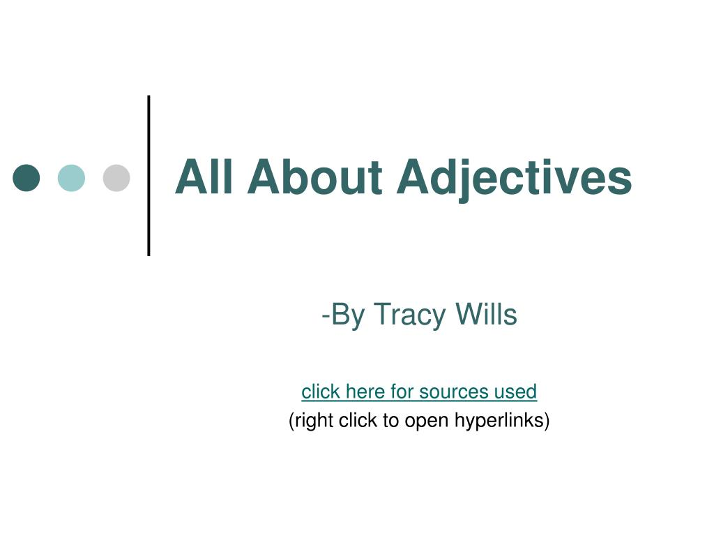 all about adjectives l.