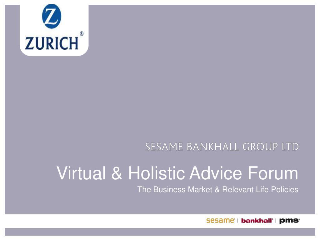 virtual holistic advice forum l.