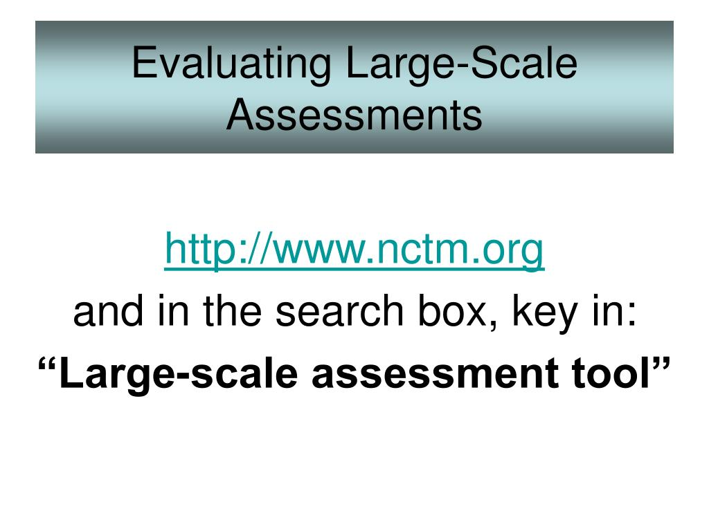 Evaluating Large-Scale Assessments