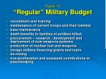 figure 15 regular military budget