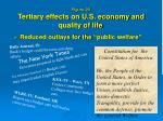 figure 20 tertiary effects on u s economy and quality of life