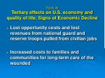 figure 26 tertiary effects on u s economy and quality of life signs of economic decline