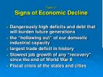 figure 27 signs of economic decline