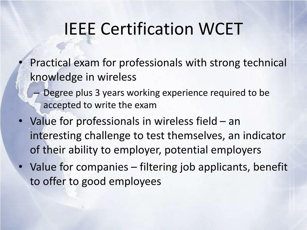 IEEE Certification WCET