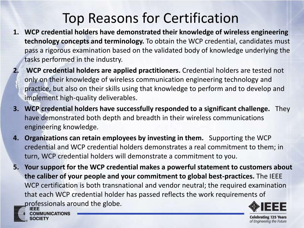 Top Reasons for Certification