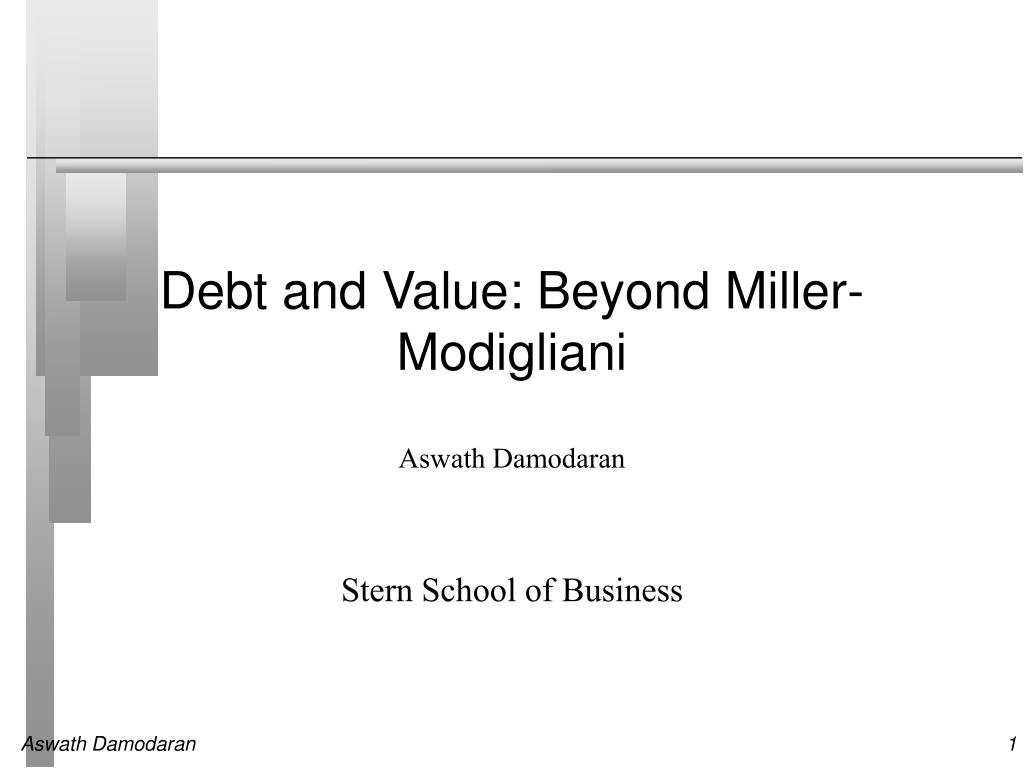 debt and value beyond miller modigliani l.