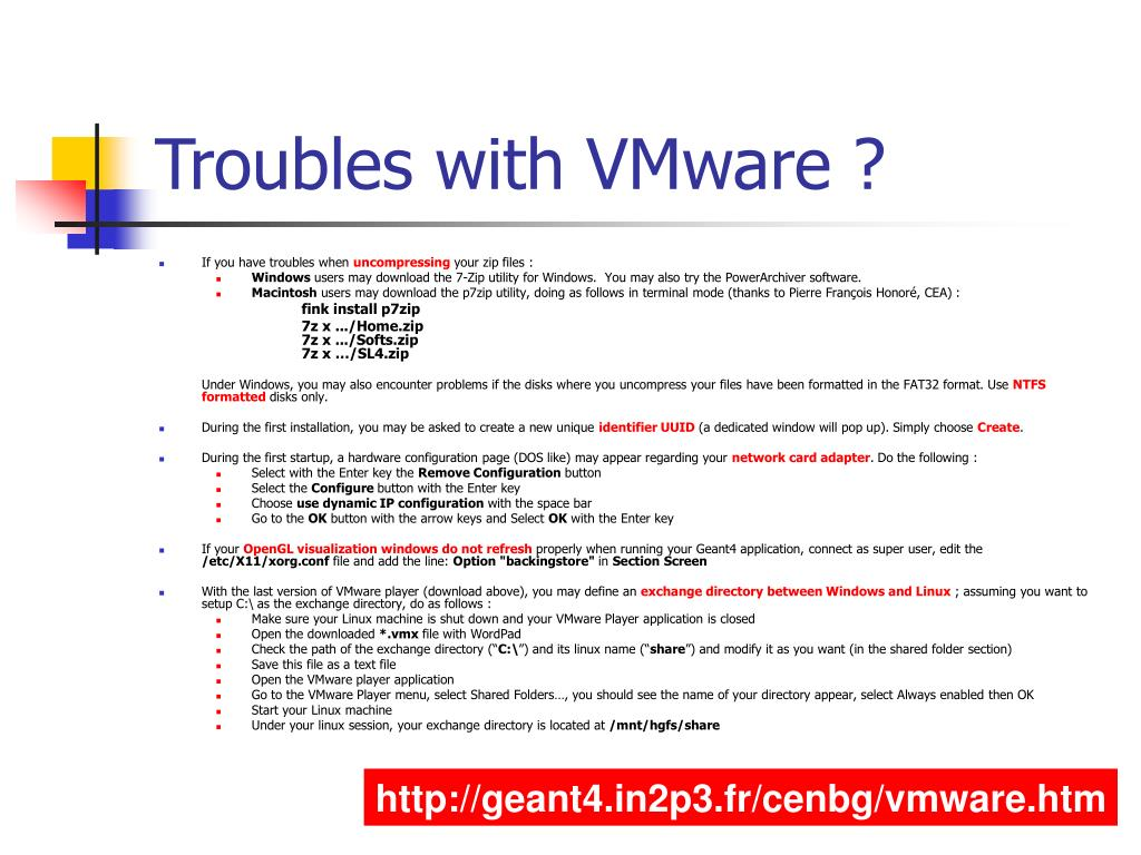 Troubles with VMware ?