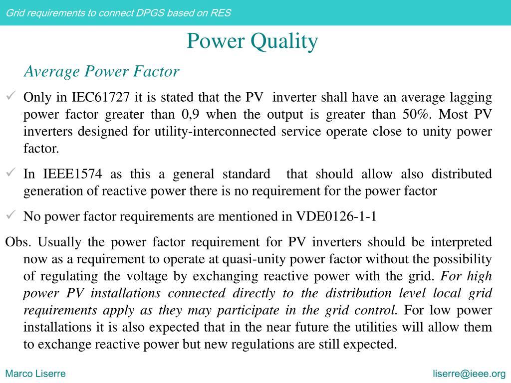 Average Power Factor