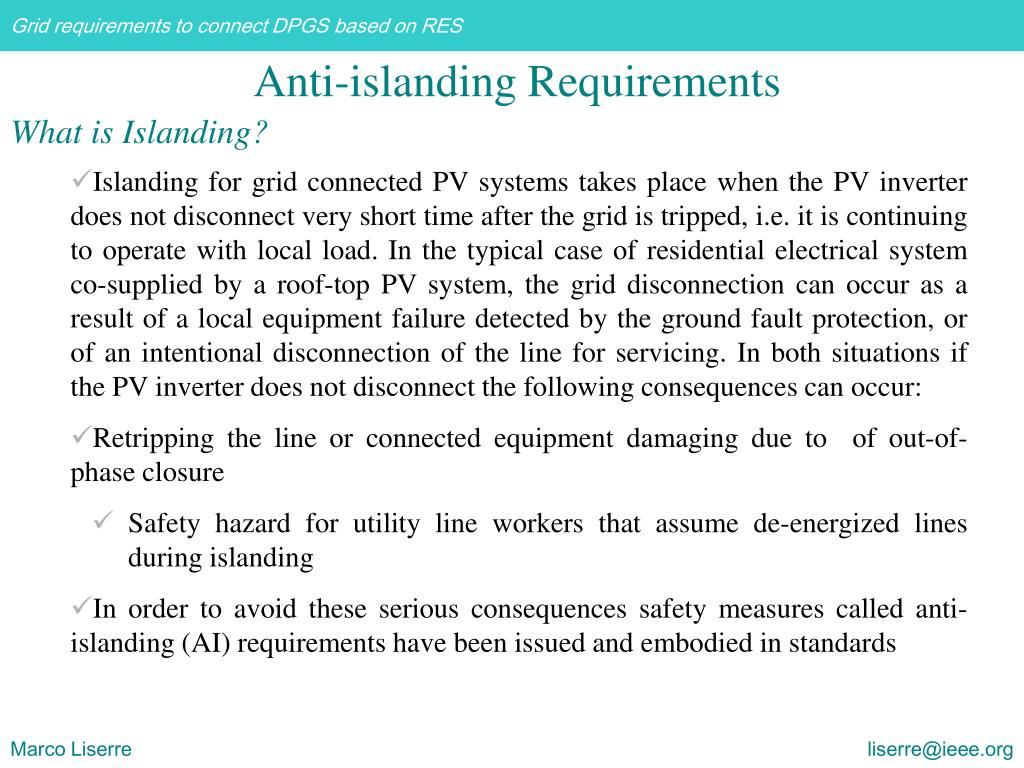 What is Islanding?