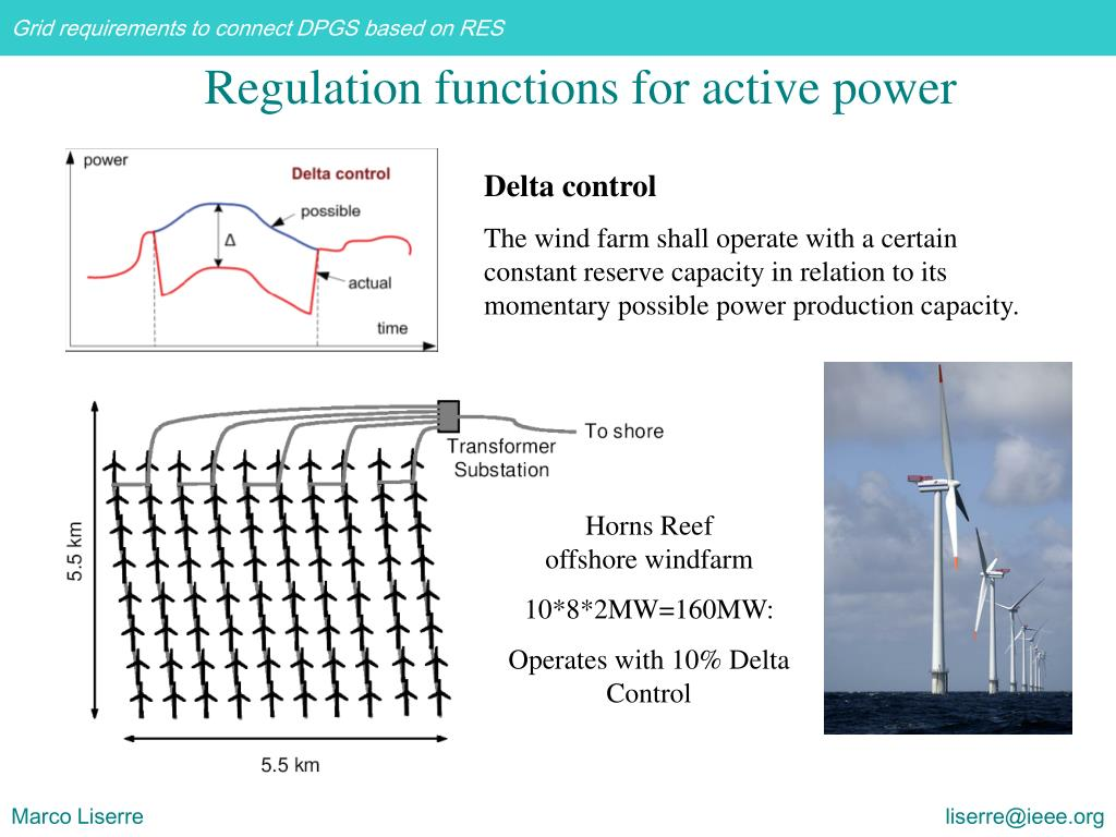Regulation functions for active power