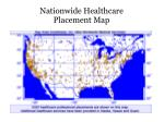 nationwide healthcare placement map