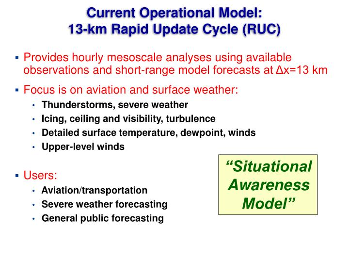 Current operational model 13 km rapid update cycle ruc