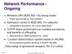 network performance ongoing