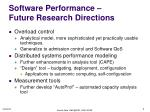 software performance future research directions