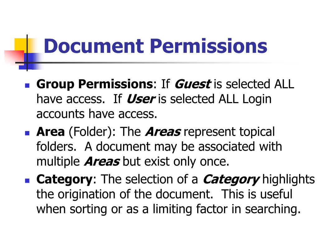 Document Permissions