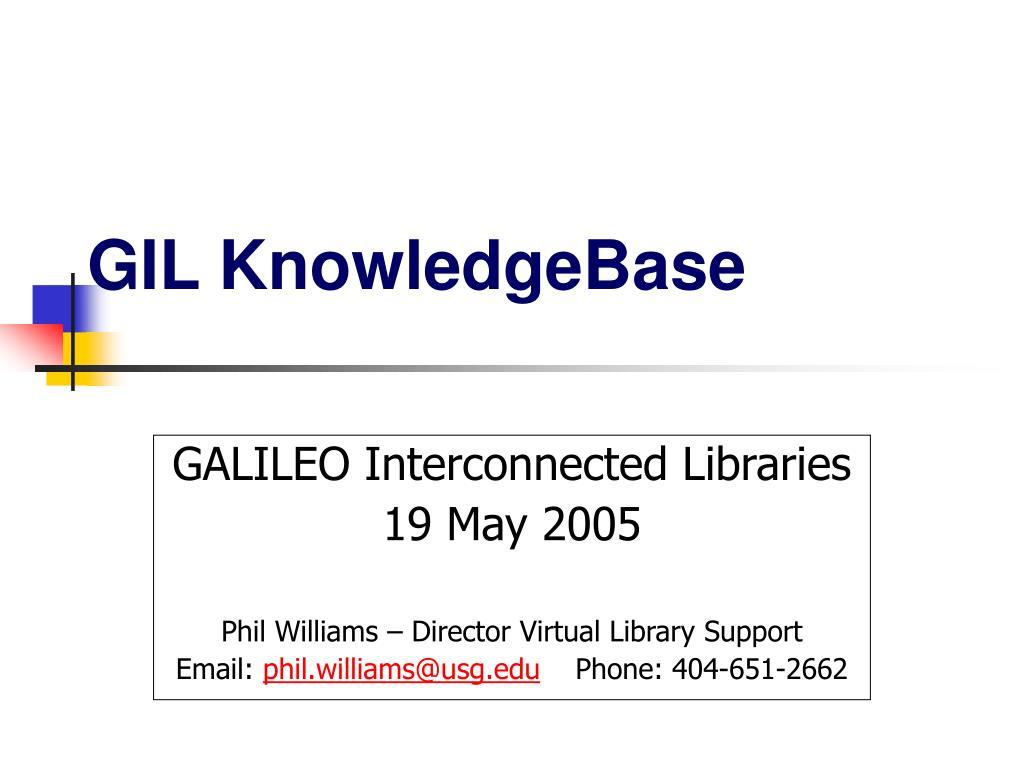 gil knowledgebase l.