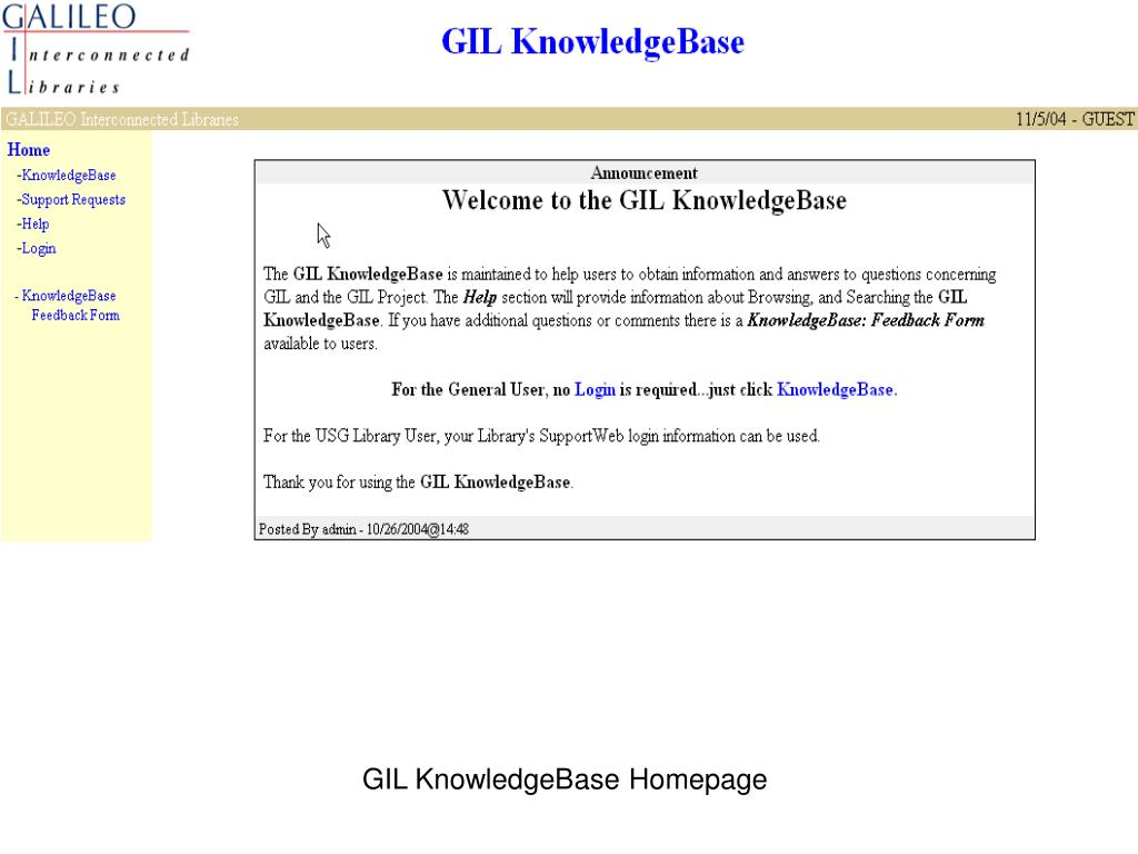 GIL KnowledgeBase Homepage