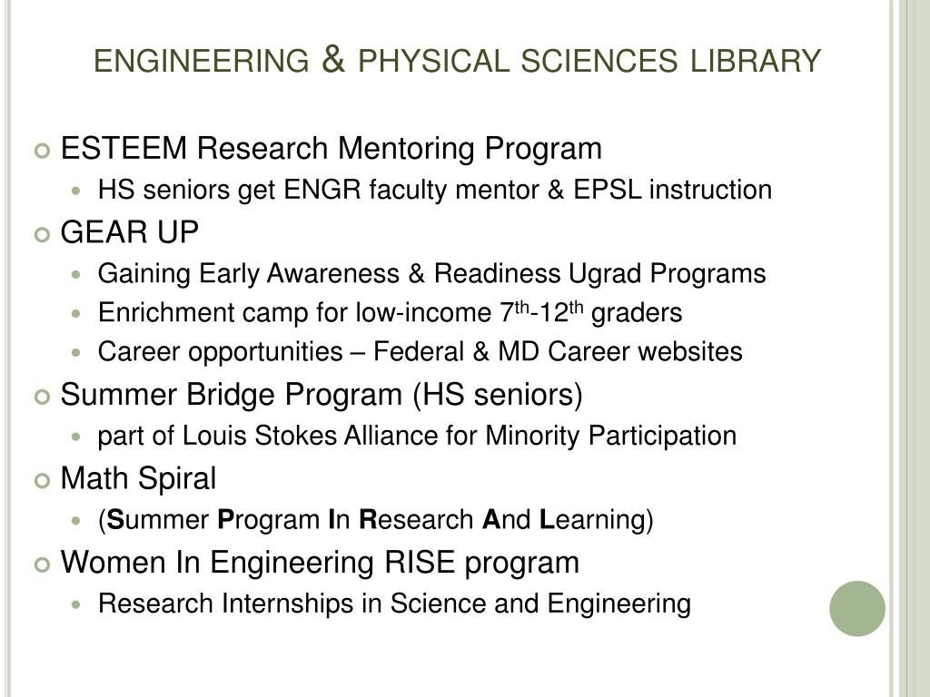 engineering & physical sciences library