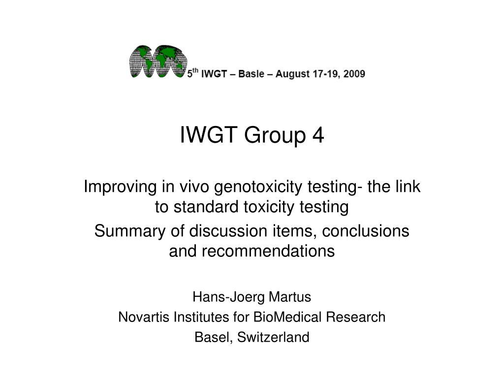 iwgt group 4