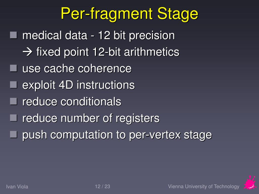 Per-fragment Stage
