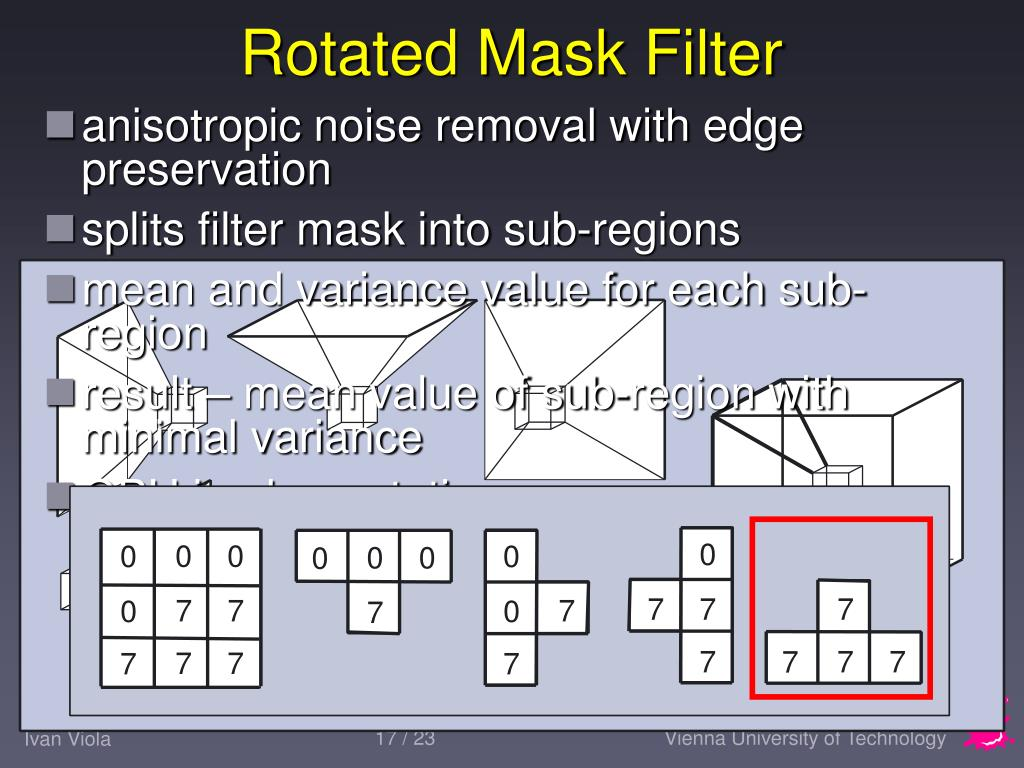 Rotated Mask Filter