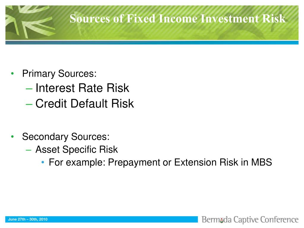 Sources of Fixed Income Investment Risk