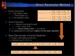 direct parameter method